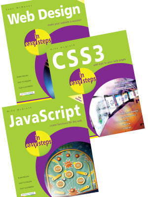 3 book web design